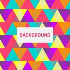 Colorful abstract triangle background