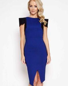 Vesper Colour Block Midi Dress