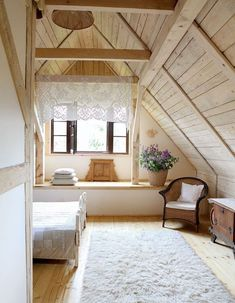 Romantic Wooden Cottage - bedroom - photos : adorable-home