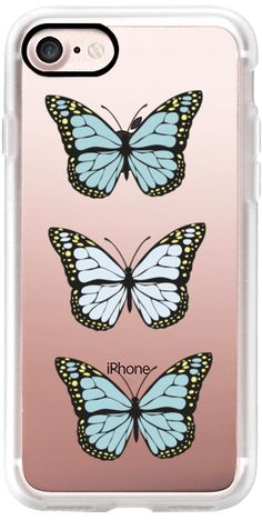 Casetify iPhone 7 Classic Grip Case - Butterflyers collection by lescapricesdefilles #Casetify  #iphonecase   #butterflies   #nature   #cases   #christmasgifts   #chrismas   #christmas2016   #illustration   #birthdaygift   #birthdaygirl  #phonecase