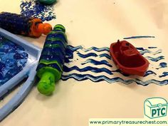 Transport Themed Creative / Painting Area Ideas / Tuff Tray Activities - Primary Treasure Chest