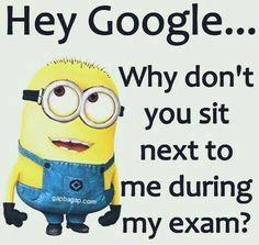 Funny Minion Joke About Exams vs. Google