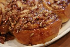 Sticky Buns from crescent rolls.