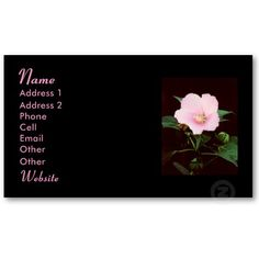 ROSE MALLOW BUSINESS CARD, by The Flying Pig Gallery on Zazzle (lizadeyphoto) - This beautiful Profile Card features a Close-up photo of a Rose Mallow. Great for either personal or business use! Text may be customized according to your needs.