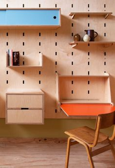 storage system for kids - kerf-wall