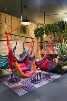 Hammock, Vegan hang out by Egue y Seta - MyHouseIdea Café Design, House Design, Deco Restaurant, Outdoor Restaurant, Modern Restaurant, Deco Cool, Vegan Cafe, Coffee Shop Design, Restaurant Interior Design