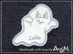 Applikation Geist ♥ Aufnäher Gespenst ♥ mit Namen von AnCaNi auf DaWanda.com