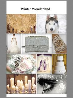 Winter #sparkle #moodboard #wedding