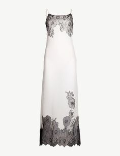 MYLA - Pansy Gardens lace-embellished silk-crepe de chine slip dress | Selfridges.comm