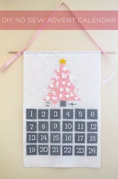 A sweet no sew advent calendar DIY that doesn't involve candy.