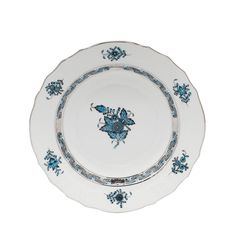 Herend Chinese Bouquet Turquoise Salad Plate