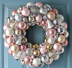 Christmas+Ornament+Wreath+Pastel+Pink+by+judyblank+on+Etsy