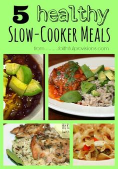 5 Healthy Slow Cooker Recipes | My favorite items to put in the slow cooker!