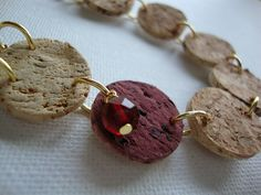 Recycled Wine Cork Necklace by brasspaperclip, via Flickr