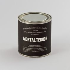 MORTAL TERROR // For Terrifying Purposes, superior to many milder forms of Terror. Singularly efficacious in instilling a real and immediate fear of death. Oddly pleasant to taste, marvellously quick to act.
