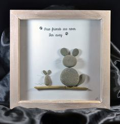 True Friends Are Never Far Away Pebble Art by HiraethCraftsWales