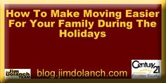 Want to avoid the stress while moving this holiday season? Our blog can help! --> http://blog.jimdolanch.com/how-to-make-moving-easier-for-your-family-during-the-holidays/ #realestate #Pittsburgh #mondaymotivation