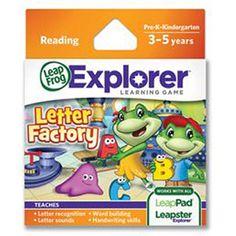 LeapFrog Explorer Learning Game, Letter Factory on Monica's birthday list