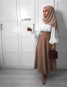 Hijab outfit Best skirt outfits hijab abayas 20 Ideas Design Your Own Wedding Dress Wouldn't Modest Fashion Hijab, Modern Hijab Fashion, Hijab Fashion Inspiration, Islamic Fashion, Hijab Chic, Muslim Fashion, Mode Inspiration, Abaya Fashion, Modest Outfits Muslim