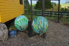 painted satellite dishes