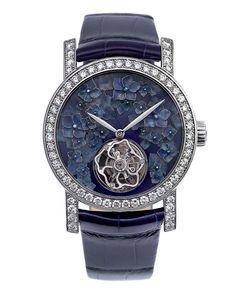 Chaumet Hortensia Tourbillon Watch, shortlisted for the Metiers d'Art award.