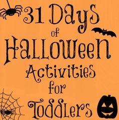 Little Moments Like This: 31 Days of Halloween Activities for Toddlers