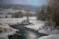 "Michael Godfrey  ""A Touch of Moonlight"" 24x36 oil"
