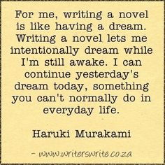 Learn more about the author here ~~~ Writers Write offers the best writing courses in South Africa. Writers Write - Write to communicate Writing Advice, Writing A Book, Writing Prompts, Writing Resources, Writing Corner, Teaching Writing, Haruki Murakami, Writer Quotes, Book Quotes