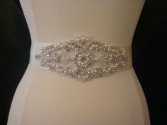 Bridal Sash  Wedding Dress Sash Belt  Pearl by BellaFleurBridal, $45.00