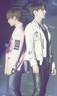 Omg the height difference... or is kookie standing in something?
