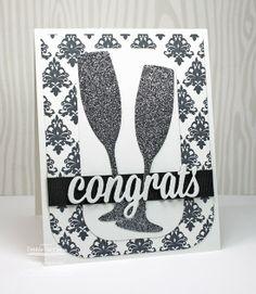 Damask Designs, Blueprints 10 Die-namics, Celebratory Greetings Die-namics - Debbie Carriere #mftstamps