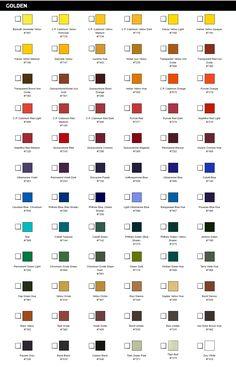 Full Set Syndrome? Yeah. I feel ya. Golden Open Acrylics Color Chart.