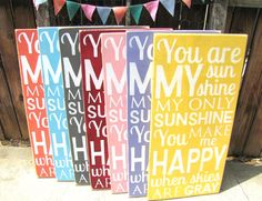 You Are My Sunshine Wooden Distressed Subway by SaltboxHouseSigns, $39.00