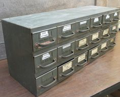 18 Drawer Equipto Metal Cabinet Industrial Age by TheOldGrainery & 18 Drawer Equipto Metal Cabinet Industrial Age by TheOldGrainery ...