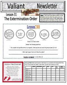 Valiants lds on Pinterest | Primary Lessons, Mormons and ...