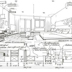 Sketch #interior #design #1bed #condo #elevation #section #detail #spec #parkland condo