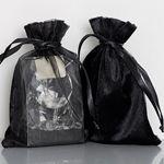 Velours met organza zakjes zeer geschikt voor het verpakken van oa sieraden leverbaar in 2 maten in de kleuren zwart, wit en zilver op www.organzastore.nl