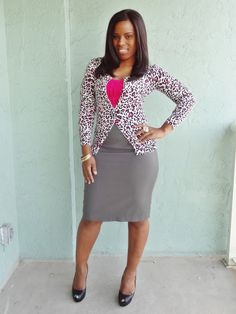 Curves and Confidence | Inspiring Curvy Fashionistas One Outfit At A Time: Pink and Pinstripes