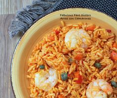 Arroz con Camarones – Fabulous Fare Sisters Diced Carrots, Jasmine Rice, Red Peppers, Coriander, Sisters, Lunch, Stuffed Peppers, Fresh, Meals