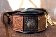 IMPERIAL II | Personalized dog collar with black leather cushion