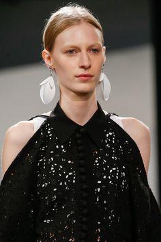 Feather Earrings at Proenza Schouler Spring/Summer 2016   Vogue Paris