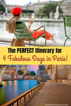 You need this perfect Paris Itinerary! Whether it's your first time or time these things to do in summer and winter will make your vacation in Paris the perfect time! Paris France Travel, Paris Travel Tips, Europe Travel Tips, Travel Advice, Travel Guides, Travel Packing, European Travel, Travel Destinations, 4 Days In Paris