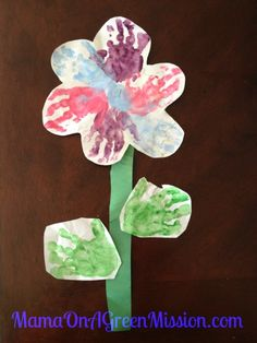 Perfect flower to make for mama or grandma for Mother's Day from the little ones!