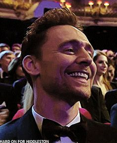 Tom Hiddleston at BAFTA TV Awards 2016. Gif-set (by hard-on-for-hiddleston): http://maryxglz.tumblr.com/post/152912899707