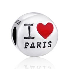 SC 'I Love Paris' Charm Bead 925 Sterling Silver GIFT PACKING Included  | eBay