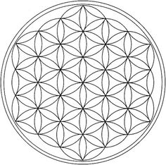 Sacred Geometry Mandala Coloring Pages Sacred Geometry Symbols, Geometry Art, Seed Of Life, Mandala Coloring Pages, Crystal Grid, Ancient Symbols, Free Printable Coloring Pages, Coloring Books, Coloring Apps