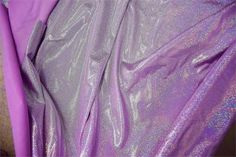 Lilac Holographic Sparkly Jewel Fabric
