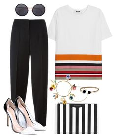 """""""May 12, 2016"""" by sundaeeizz on Polyvore featuring MSGM, Givenchy, Alexander McQueen, Gianvito Rossi, David Yurman, Dolce&Gabbana, Maison Margiela and Linda Farrow"""
