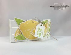 Stampin' Up! Wood Crates and Lemon Zest Goodie Holder – Stamps – n – Lingers Lemon Crafts, Lemon Party, Treat Holder, Wood Crates, Craft Box, Craft Fairs, Scrapbook Cards, Stampin Up Cards, Craft Projects