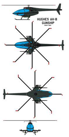 Hughes AH-8 gunship Angry Bird by bagera3005.deviantart.com on @DeviantArt